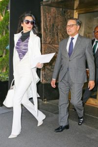 Amal Clooney in Giambattista Valli and Manning Cartell, image by Polyvore l