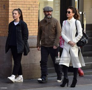 Kate Beckinsale, Lily Mo Sheen and Michael Sheen are seen in Soho, New York, on April 5, 2016 Getty Image